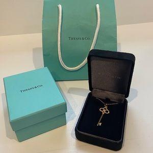 Tiffany Crown Key Pendant 18k Gold